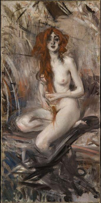 Nu aux cheveux rouges, 1911, Giovanni Boldini