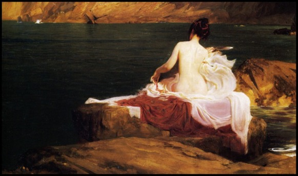 L'île de Calypso, 1897, Herbert James Draper, Manchester Art Gallery